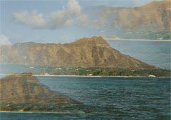 Diamond Head shot using special filter - Cool!