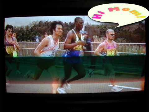 Scene with me as runner in EKIDEN movie